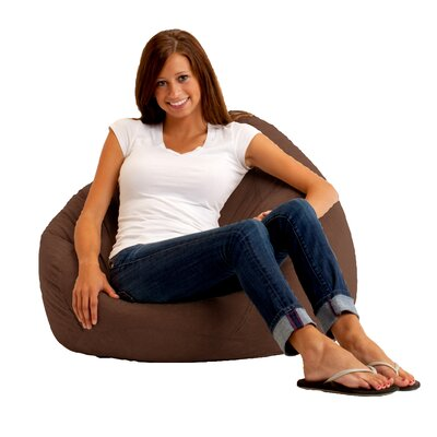 Bean Bag Chair Upholstery: Comfort Suede Espresso