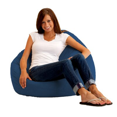 Bean Bag Chair Upholstery: Comfort Suede Blue Sky