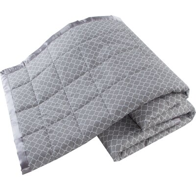 Down Alternative Blanket Color: Gray, Size: Full/Queen