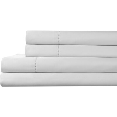 Tuxedo 325 Thread Count 100% Pima Cotton Sheet Set Size: Cali King, Color: White