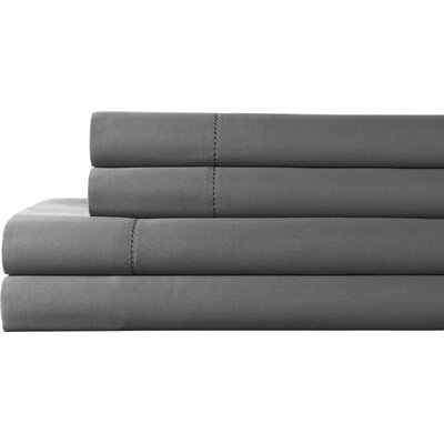 Tuxedo 325 Thread Count 100% Pima Cotton Sheet Set Color: Charcoal, Size: Queen