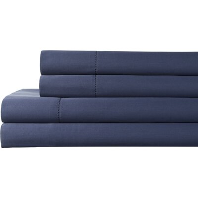 Tuxedo 325 Thread Count 100% Pima Cotton Sheet Set Color: Denim, Size: Queen