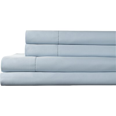 Tuxedo 325 Thread Count 100% Pima Cotton Sheet Set Color: Light Blue, Size: King