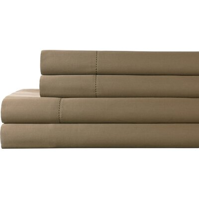 Tuxedo 325 Thread Count 100% Pima Cotton Sheet Set Color: Taupe, Size: Full