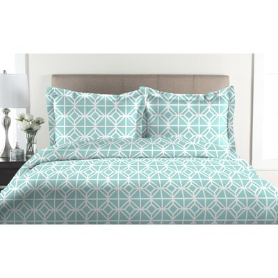 St. Charles 2 Piece Duvet Cover Set Size: Full / Queen, Color: Aqua