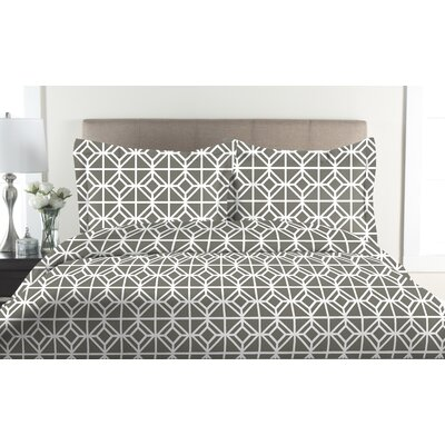 St. Charles 2 Piece Duvet Cover Set Size: Full / Queen, Color: Ash