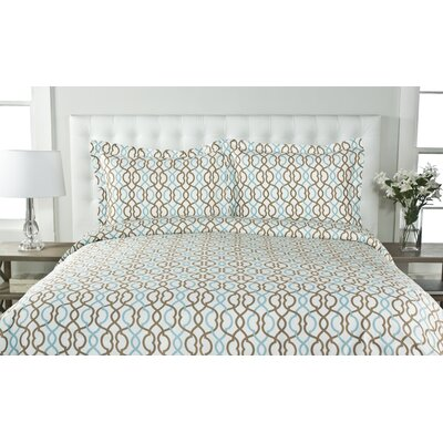 Sorrelli 3 Piece Duvet Cover Set Size: Full/Queen, Color: Taupe