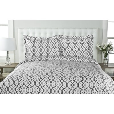 Sorrelli 3 Piece Duvet Cover Set Size: Full/Queen, Color: Gray