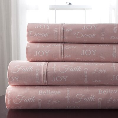 300 Thread Count 100% Cotton Sheet Set Size: Queen, Color: Pink