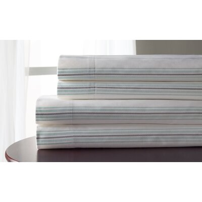 3 Piece 300 Thread Count 100% Cotton Sheet Set Size: California King, Color: Aqua