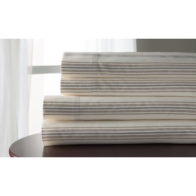 3 Piece 300 Thread Count 100% Cotton Sheet Set Size: King, Color: Taupe