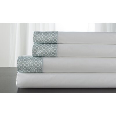Adara 400 Thread Count 100% Cotton Sheet Set Color: Spa, Size: King