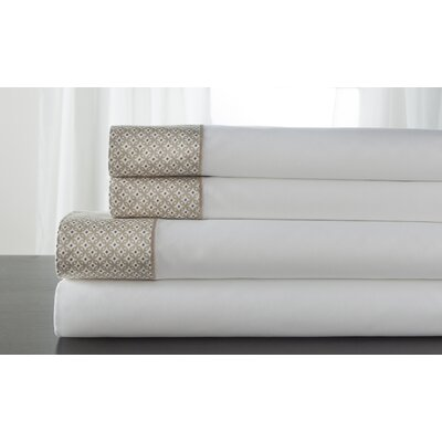 Adara 400 Thread Count 100% Cotton Sheet Set Color: Tan, Size: Full