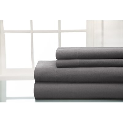 Flannel Sheet Set Size: Queen, Color: Graphite