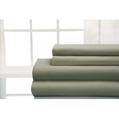 100% Cotton Sheet Sets Size: King, Color: Laurel Green