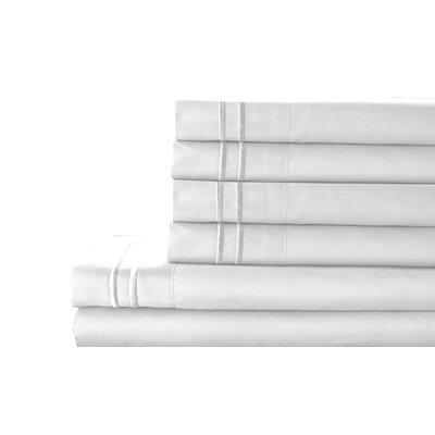 Tracy Sheet Set Color: White, Size: Queen