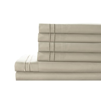 Tracy Sheet Set Color: Ivory, Size: Twin