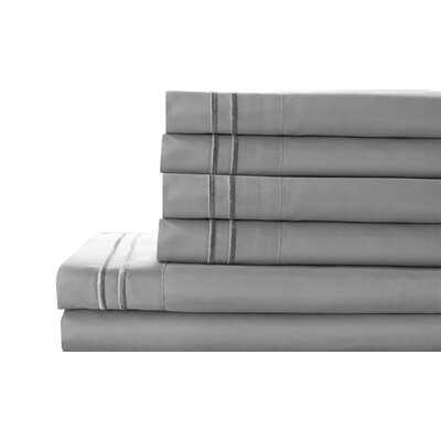 Tracy Sheet Set Color: Gray, Size: Queen