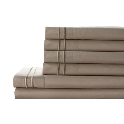 Tracy Sheet Set Color: Oxford Tan, Size: Twin