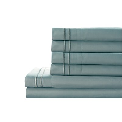 Tracy Sheet Set Color: Blue Haze, Size: Queen
