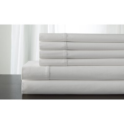 Camden 350 Thread Count 100% Cotton Sheet Set Size: Queen, Color: White