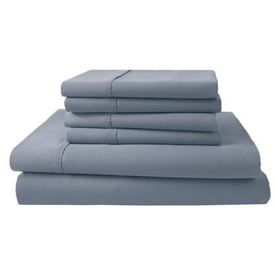 Park Ridge 4 Piece 1000 Thread Count Sheet Set Size: King, Color: Blue Mist