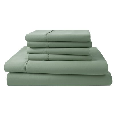 Park Ridge 4 Piece 1000 Thread Count Sheet Set Size: King, Color: Fern