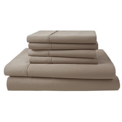 Park Ridge 4 Piece 1000 Thread Count Sheet Set Size: King, Color: Linen