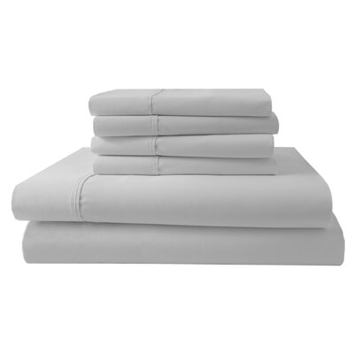 Park Ridge 4 Piece 1000 Thread Count Sheet Set Size: King, Color: White