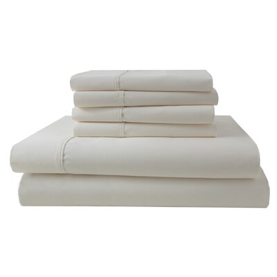 Park Ridge 4 Piece 1000 Thread Count Sheet Set Size: King, Color: Ivory