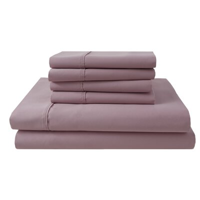 Park Ridge 4 Piece 1000 Thread Count Sheet Set Size: King, Color: Silver Pink