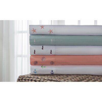Hotel Emboidered Sheet Set Size: Twin
