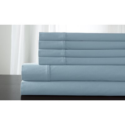 Camden 350 Thread Count 100% Cotton Sheet Set Size: Full, Color: Sky Blue