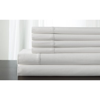 Kerrington 800 Thread Count 6 Piece Sheet Set Size: California King, Color: White