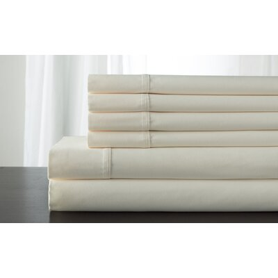 Kerrington 800 Thread Count 6 Piece Sheet Set Size: Queen, Color: Ivory