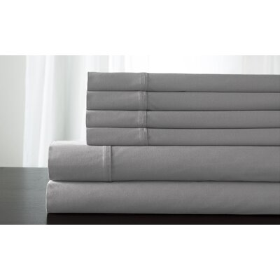 Kerrington 800 Thread Count 6 Piece Sheet Set Size: Queen, Color: Grey