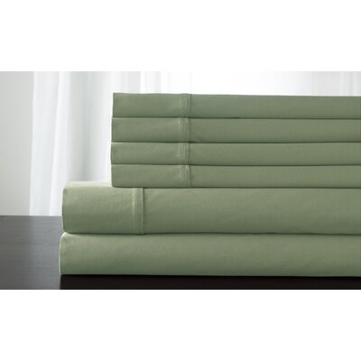 Kerrington 800 Thread Count 6 Piece Sheet Set Size: King, Color: Sage