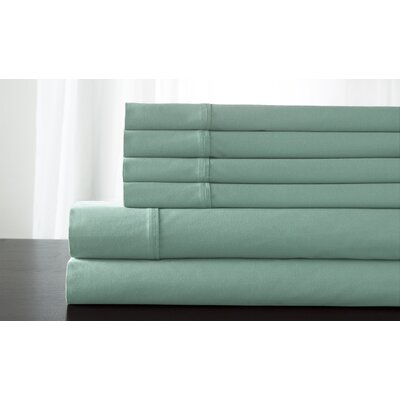 Kerrington 800 Thread Count 6 Piece Sheet Set Size: King, Color: Aqua Mist
