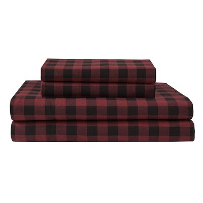Thaxted 100% Cotton Flannel Sheet Set Size: Twin