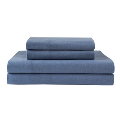 Haddan 100% Cotton Flannel Sheet Set Size: Queen
