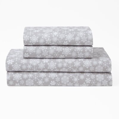 Snowfall Polyester Sheet Set Size: King