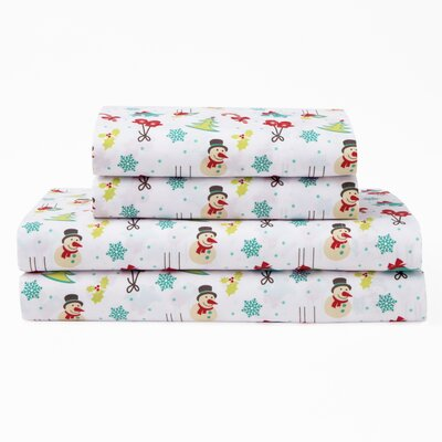 Xmas Polyester Sheet Set Size: Twin