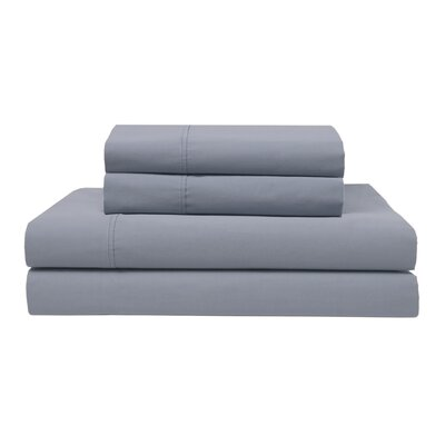 Orono Garment Washed 300 Thread Count 100% Cotton Sheet Set Color: Light Blue, Size: Full