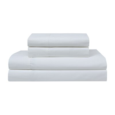 Orono Garment Washed 300 Thread Count 100% Cotton Sheet Set Color: White, Size: Twin