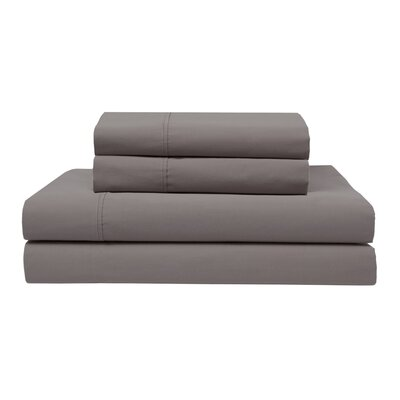 Orono Garment Washed 300 Thread Count 100% Cotton Sheet Set Color: Pewter, Size: Twin