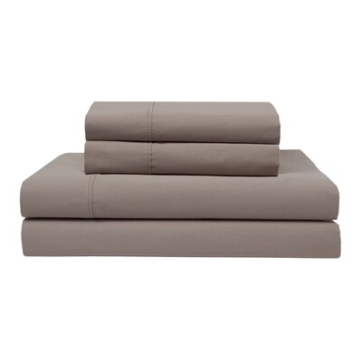 Orono Garment Washed 300 Thread Count 100% Cotton Sheet Set Color: Taupe, Size: Twin