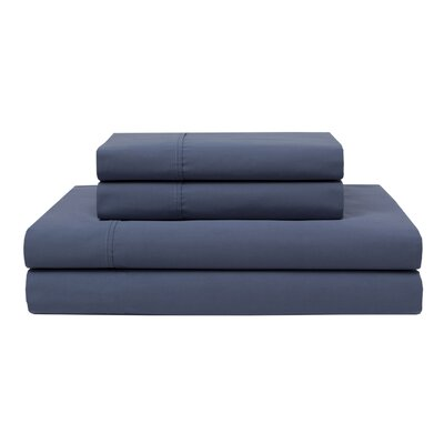 Orono Garment Washed 300 Thread Count 100% Cotton Sheet Set Color: Denim, Size: Twin