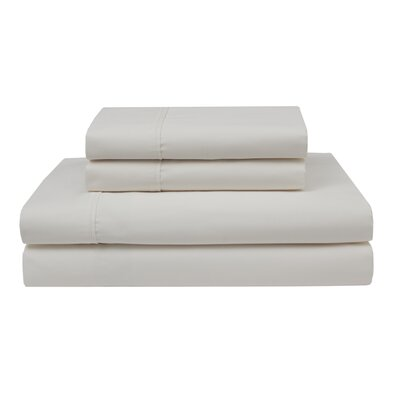 Oskar Wrinkle Free 420 Thread Count 100% Cotton Sheet Set Color: Ivory, Size: Queen