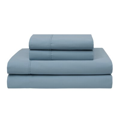 Oskar Wrinkle Free 420 Thread Count 100% Cotton Sheet Set Color: Iced Aqua, Size: Full