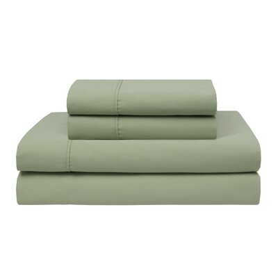 Oskar Wrinkle Free 420 Thread Count 100% Cotton Sheet Set Color: Sage, Size: King